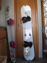 Never Summer Evo-R with Ride Betas, and Prior AMF Split with Spark R&D Fuse Bindings.