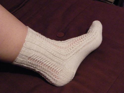 White Hebi Socks
