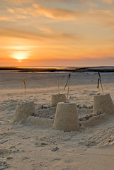 Cape Cod Beach Sand Castle