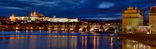 riverside of Prague