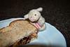 Just Smiled and gave me a vegemite sandwich (Singing With Light) Tags: newzealand food bread jerseycity pentax nj menatwork april kiwi 2010 jjp magnetictoys centrefocus k200d bahbahra thedailyshoot icomefromalanddownunderplatesheepvegemitethedailyshootds1532010aprilbahbahrajjpk200dnjnewzealandbreadcentrefocusfoodjerseycitykiwimagnetictoysmenatworkpentaxplatesheepvegemite ds153