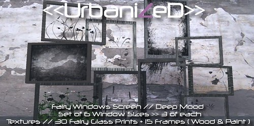 <<UrbanizeD>> Fairy Windows Screen Set // Deep Mood