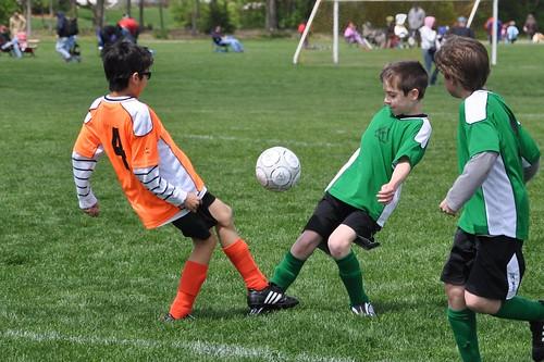 Benton contests the ball