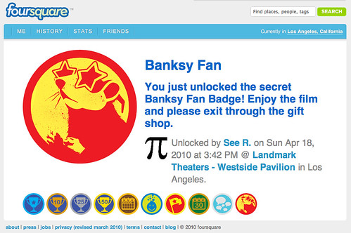 Foursquare: (Not So) Secret Banksy Badge