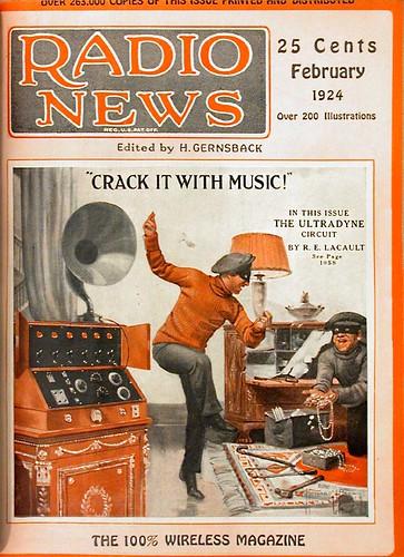 Radio News cover, Feb. 1924