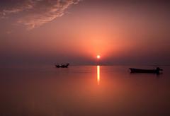 Morning.. (©Helminadia Ranford) Tags: morning sun seascape nature sunrise boat bahrain fishing arab gcc hidd peregrino27newvision
