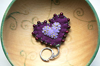 all she needs is love...an adorned felt heart key ring