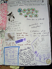 Right Page - Scribble widly using only borrowed pens - (Page 94&95)