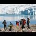 Devant le glacier du 14 juillet