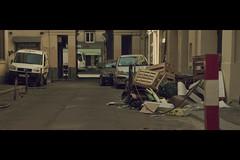 Sweet Garbage (- Loomax -) Tags: street cars sunshine garbage alley cinematic anamorphic warmcolors cinemascope kowa8z