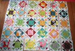 A Flea Market Fancy Quilt in Progress (goneaussiequilting) Tags: quilt fmf denyseschmidt fleamarketfancy