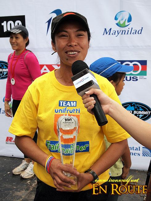 TNF 100 Trail Run 100k Winner Heidi Ticlang