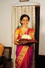 receiving the wedding sari (surriya67) Tags: wedding india bride kerala saree sari thrissur irinjalakuda thanissery