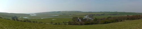 Panoramic view of Cuckmere Haven