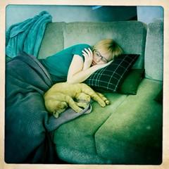 Sleepy post-slumber-party girlfriend (jasonEscapist) Tags: cameraphone mobile cat square claire nap sleep couch sofa sleepy squareformat naptime toki armst tokiwarcat iphoneography rockrow hipstamatic