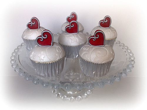Wedding Anniversary Cupcakes