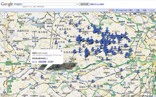 100505 - 2010年Q1版「東京都內動畫製作公司/工作室」分布地圖正式更新