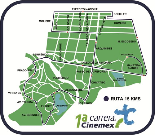 Ruta carrera Cinemex 15K