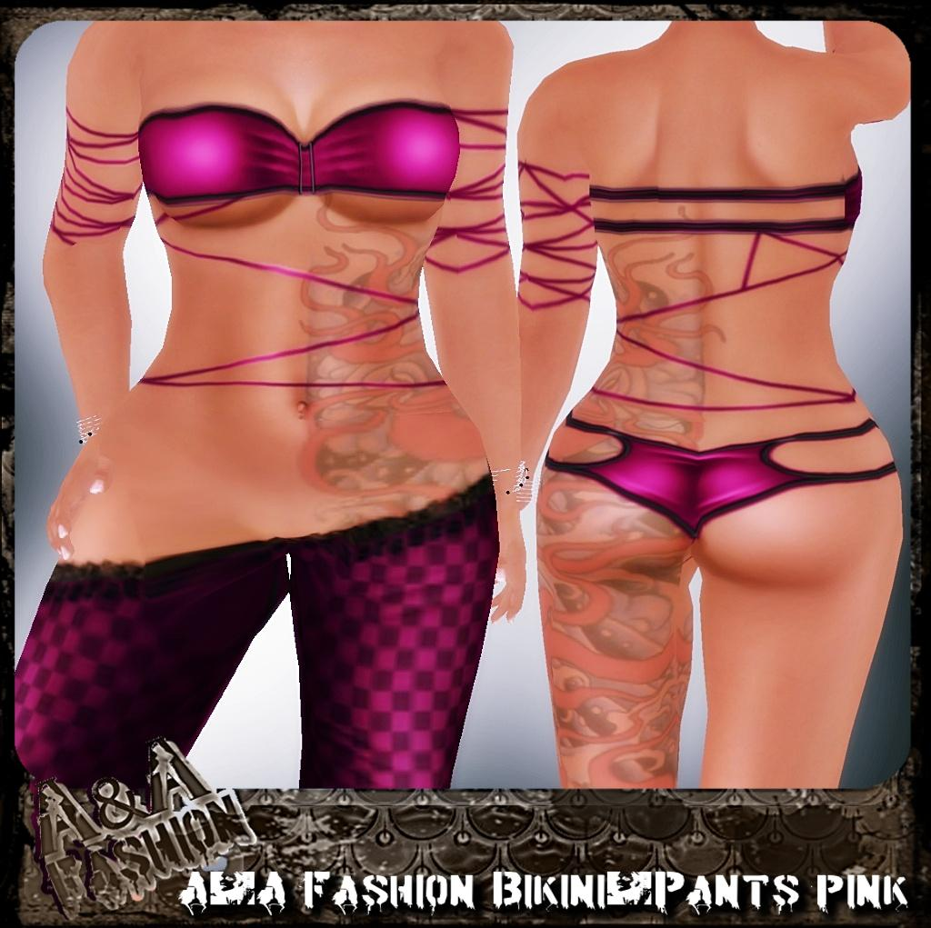 A&A Fashion bikini and pants pink