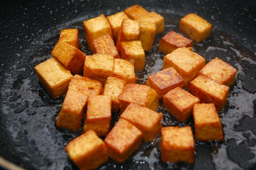 Pressed Tofu Browned