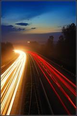 highway (grzesorg) Tags: night lights highway monastery krakoff