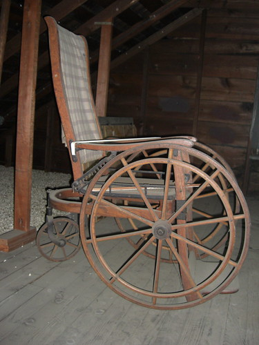 This old wheelchair is in my attic.