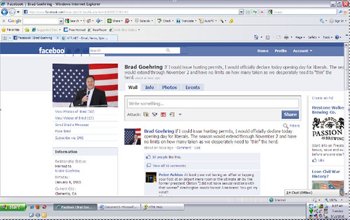 Goehring Facebook screenshot