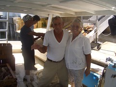 Esteban and Maria Gonzalez - still working traps in his 80's