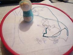 work in progress!!! (Extrao mundo de Silmeriel) Tags: embroidery alice workinprogress needlefelting alicewonderland