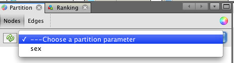 Gephi partiion over a preloaded partition