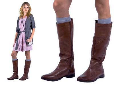 bota de cano alto feminina