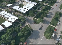 green space along Logan Blvd (via Google Earth)