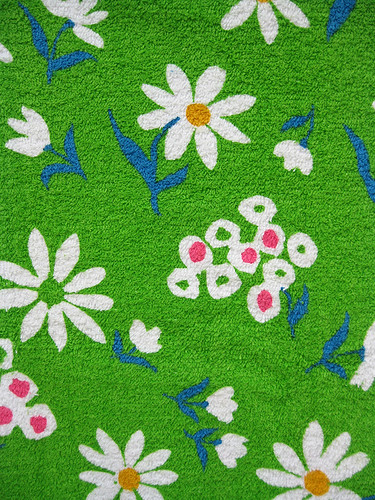 Happy Green Vintage Terry Fabric