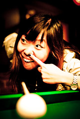 Yes we're talking about u (Forest Wang) Tags: canada pool club night 50mm quebec sony sherbrooke billiards f22 8ball iso1600 wellinton fridaynight 1011pm sonydslra230 dslra230 160secatf22 may212010 fridaynightpool