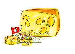 emmenthal (monica.menozzi) Tags: svizzera buchi bandiera fetta bandierina stuzzicadenti cubetti bandierasvizzera formaggiofettegiallosottilettearancionefettine crostadorato