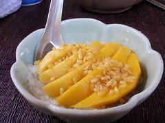Cours de cuisine -> Sticky rice et mango