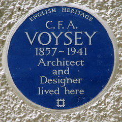 Photo of C. F. A. Voysey blue plaque