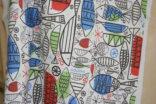Fabric Of the Week Winner: Fifties Contest - Atomic Fish by Emma McCann
