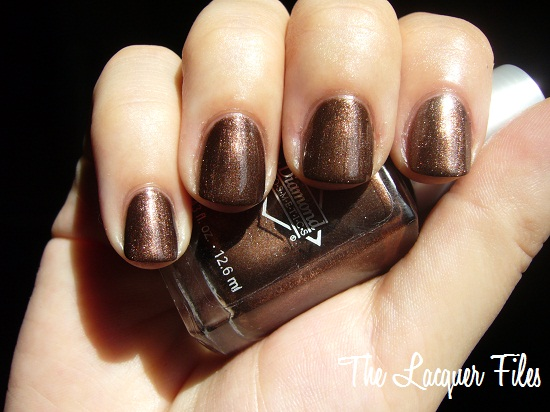 Diamond Cosmetics Decadence Boozyshop Brown Gold Foil Shimmer Polish