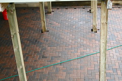 Bricks and Posts (marylea) Tags: brick home project diy do pattern bricks it patio yourself 2009 improvement doityourself pavers sep8