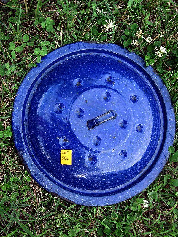 Blue Enamel Lid