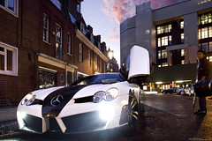 McLaren Mercedes SLR Mansory Renovatio Roadster (Murphy Photography) Tags: street city uk slr london cars car night speed canon lens photography mercedes view shot side august harrods explore mclaren gb 2009 murphy roadster arabs dreamcars triport mansory renovatio