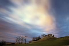 Skelbo Castle (Stuart Stevenson) Tags: scotland skelbocastle lochfleet sutherland highlandsofscotland history ancient castle ruins 14thcentury hill trees loch northeasthighlands sky bigsky morning dawn stuartstevenson canon5dmkii