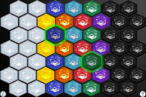 HexJam main screen (left hand layout): HexJam Main Screen