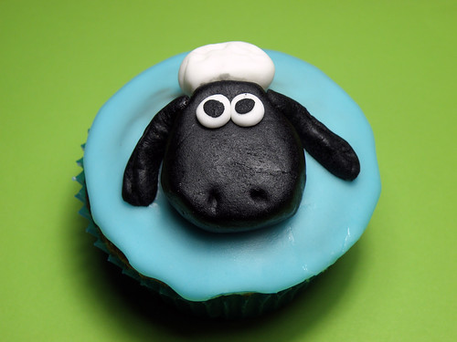 Shaun the Sheep Cupcake :)