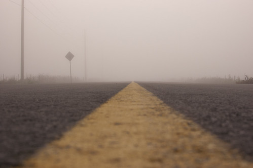 Middle of the road to nowhere