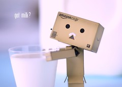 got milk? (butacska) Tags: blue white 50mm milk drink sony danbo