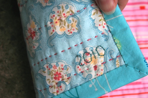 american flag mini quilt