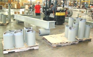 Stanchions and Beams for a Power Center