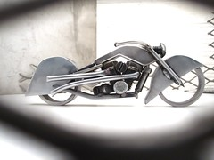 Harley Chopper Sculpture